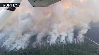 Blaze cutting a swathe through Amazon rainforest