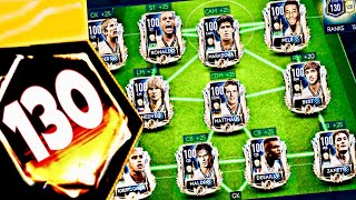 130 OVR ! Highest rated teams in fifa Mobile 19 Best cheapest way to upgrade masters and prime icons