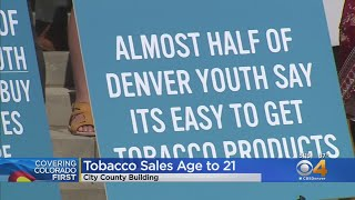 Tobacco 21 Denver Coalition Works To Raise Age To Buy Tobacco