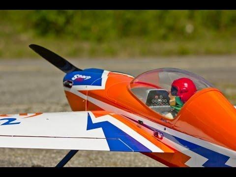 Phoenix Model Sbach DLA 64cc Twin - Maiden Flight - UCz3LjbB8ECrHr5_gy3MHnFw