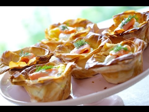Beth's Easy Smoked Salmon Quiche Cup Recipe | ENTERTAINING WITH BETH