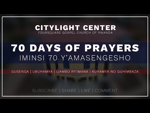FOURSQUARE TV  70 DAYS OF GREATER GLORY - DAY  17  WITH BISHOP DR. FIDELE MASENGO - 21.07.2021