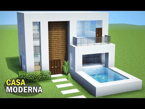 Youtube minecraft tutorial sua primeira casa moderna for Casa moderna tutorial minecraft