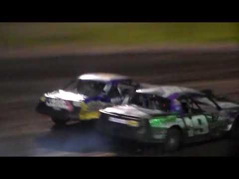 Stock Car Amain @ Hancock County Speedway 05/18/18 - dirt track racing video image