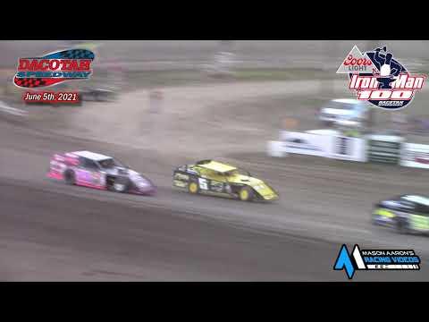 Dacotah Speedway IMCA Modified Iron Man 100 A-Main (6/5/21) - dirt track racing video image