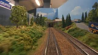 Trains and Scale Modeling - Cab Ride on the largest model railroad in Sweden