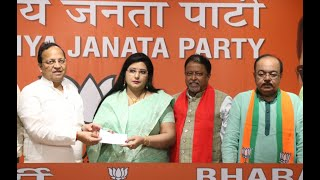 TMC MLA Sovan Chatterjee and Baisakhi Banerjee Join BJP in presence of JP Nadda