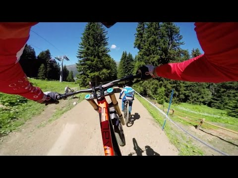 Claudio Caluori's DH Mountain Bike Course Preview POV in Switzerland - UCXqlds5f7B2OOs9vQuevl4A