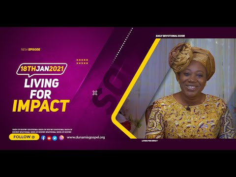 Dr Becky Paul-Enenche - SEEDS OF DESTINY  MONDAY JANUARY 18, 2021