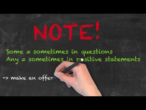 Some vs Any - English Grammar - Teaching Tips