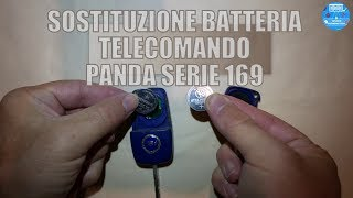 Sostituire batteria chiave Fiat Panda 169