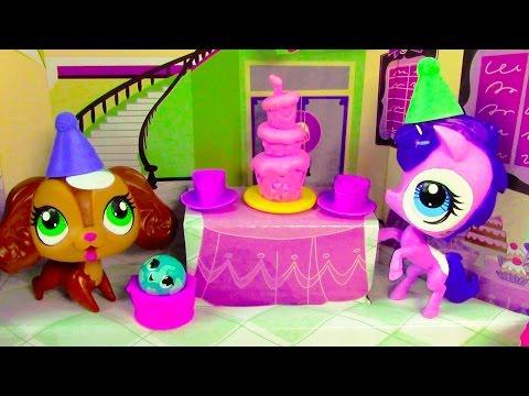 LPS Sweet Celebration Birthday Cake Party Playset Littlest Pet Shop Unboxing - UCelMeixAOTs2OQAAi9wU8-g
