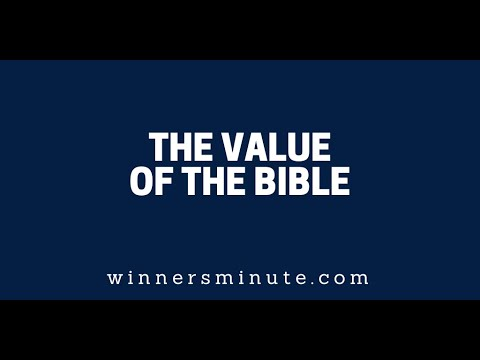 The Value of the Bible  The Winner's Minute With Mac Hammond