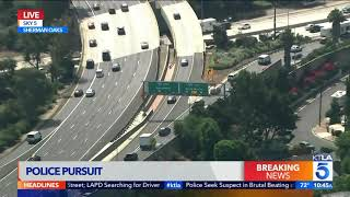 High-Speed LAPD Pursuit Ends in San Fernando Valley
