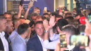 Mitsotakis greets crowds after Greek election win