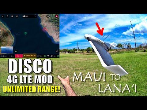 Parrot DISCO Unlimited Range! 4G LTE + Li-Ion Mod - 25 Mile MAUI to LANAI Manual Flight 😱😍 - UCVQWy-DTLpRqnuA17WZkjRQ