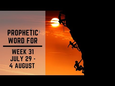 Prophetic Word for this week 29 July 2019