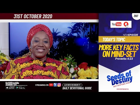 Dr Becky Paul-Enenche - SEEDS OF DESTINY - SATURDAY OCTOBER 31, 2020