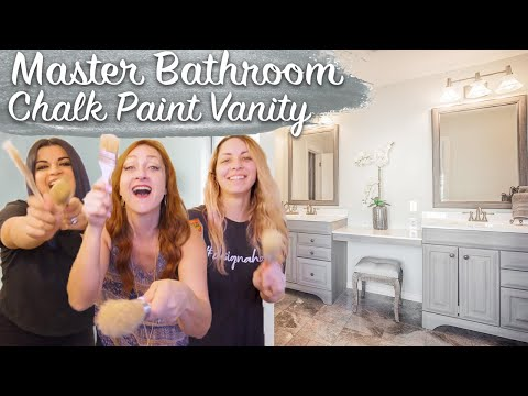 DIY ELEGANT Master Bathroom Vanity MAKEOVER | How To Chalk Paint * 2-in-1: Two Different Finishes!*