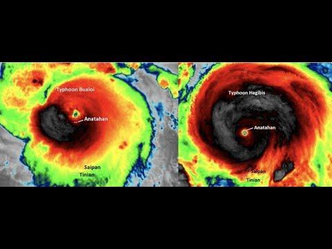 Breaking Twin Typhoons Twisting Toward Tokyo