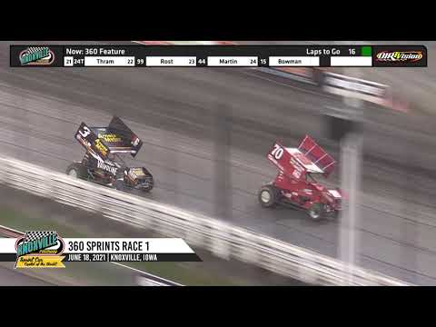 Knoxville Raceway 360 Highlights - June 18, 2021 - dirt track racing video image