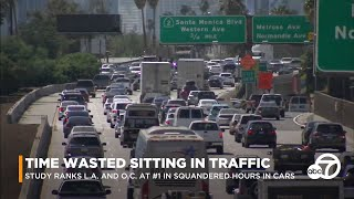 SoCal drivers spend 119 hours each year in traffic, study finds | ABC7