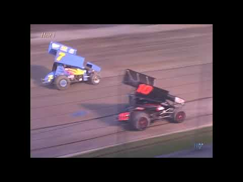 Full race from the Interstate Racing Association Sprint cars at Hartford Speedway Park in MI June 3, 2005. Veteran Danny Smith would collect the feature win. - dirt track racing video image