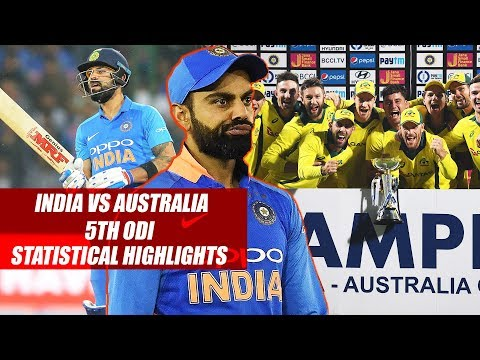 India vs Australia 5th ODI Statistical Highlights