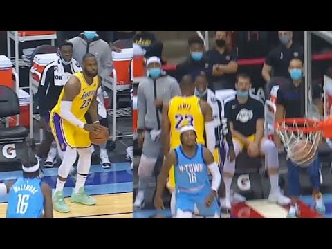 LeBron James Shocks Lakers With Stephen Curry No-Look Shot! Lakers vs Rockets