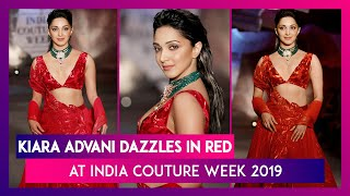 Kiara Advani Looks Ravishing in Red Bridal Outfit at India Couture Week 2019