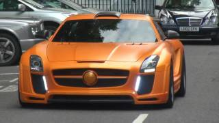 Orange Mercedes Fab Design SLS AMG In London