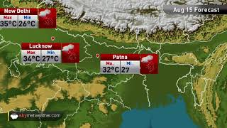 Maximums and minimums for major cities of India on August 15th | Skymet Weather
