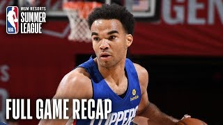 CLIPPERS vs WIZARDS | Terance Mann Records Near Triple-Double | MGM Resorts NBA Summer League