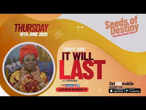 Dr Becky Paul-Enenche - SEEDS OF DESTINY  THURSDAY JUNE 18, 2020