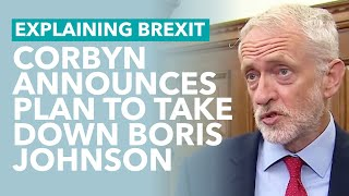 Corbyn's No Confidence Plan to Stop No Deal - Brexit Explained