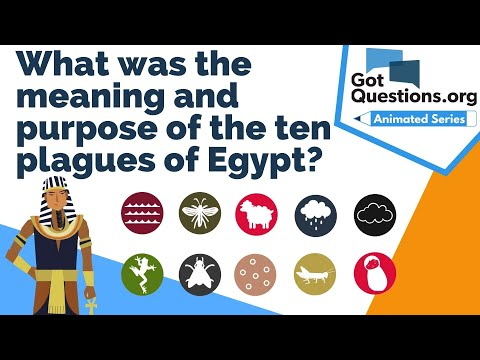 What was the meaning and purpose of the ten plagues of Egypt?