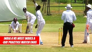 India A vs West Indies A Highlights : 3-Day Practice Match Ends In Draw At Antigua