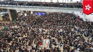 Hong Kong protests: Airport cancels a ton of flights - TomoNews