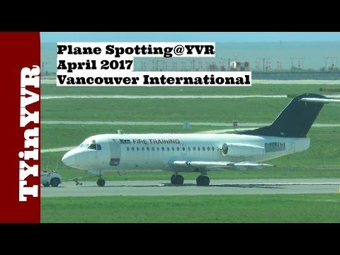 Plane Spotting @YVR April 2017 Vancouver International Airport.