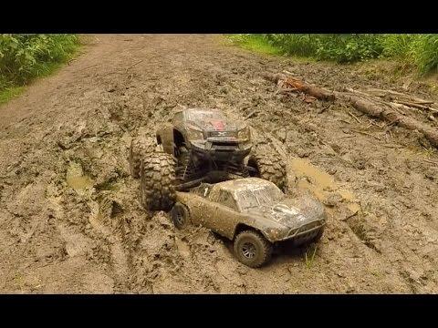 Traxxas X-Maxx & Slash, Mud Bash! - UCpgONso52_U8l8d5KM0UPKQ