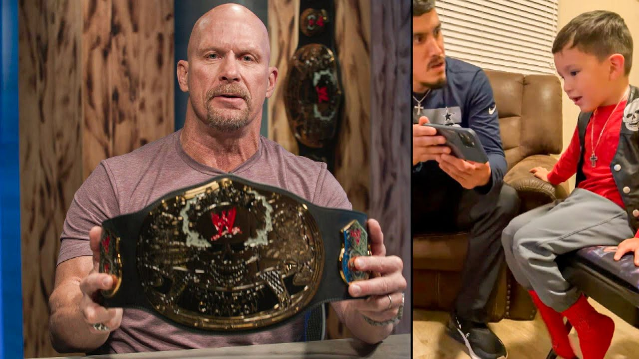 """""""Stone Cold"""" Steve Austin surprises young fan with a special gift"""