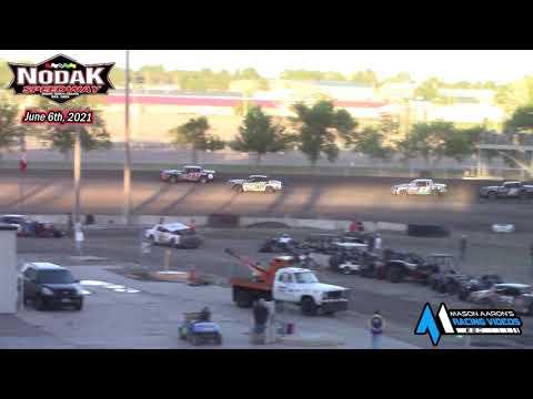 Nodak Speedway IMCA Hobby Stock A-Main (6/6/21) - dirt track racing video image