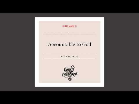 Accountable to God   Daily Devotional