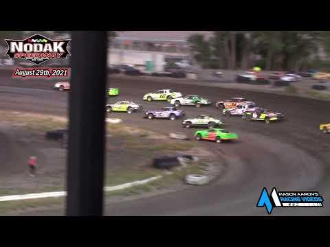 Nodak Speedway IMCA Stock Car A-Main (8/29/21) - dirt track racing video image