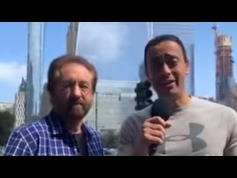 Ray Comfort & E.Z. at World Trade Center site on 9/11