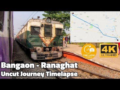 Bangaon Jn - Ranaghat Jn Full Journey Timelapse | Kolkata Local GoPro Hyperlapse