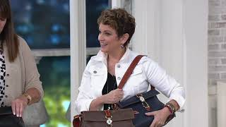 Dooney & Bourke Pebble Leather Libby Shoulder Bag on QVC