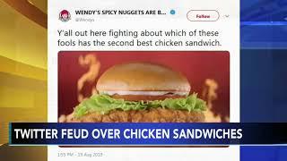 #ChickenWars: Popeyes, Wendy's, Chick-fil-A battle on social media over best chicken sandwich
