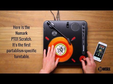 numark pt01 scratch portable turntable. Black Bedroom Furniture Sets. Home Design Ideas