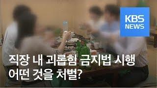 [경제 인사이드] '직장 내 괴롭힘 금지법' 오늘 시행…처벌 대상은? / KBS뉴스(News)